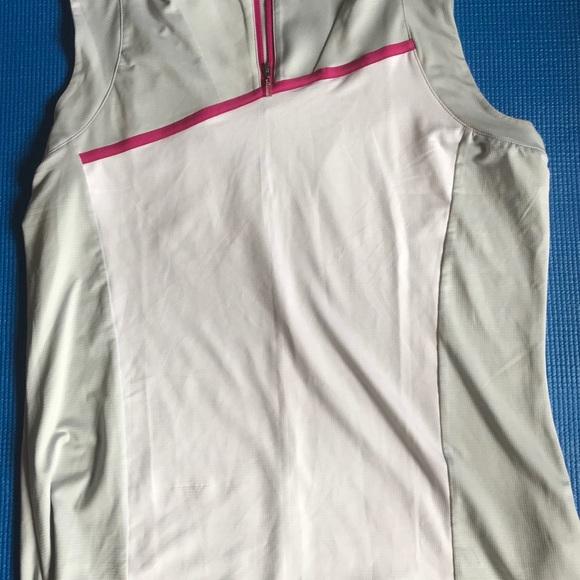 Adidas Golf Sleeveless Pink White Size Large
